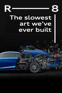 The slowest art we've ever built: to celebrate the 10 year anniversary of the Audi engine, we asked artist Fabian Oefner to do it once again. You are about to find out. My Dream Car, Dream Cars, Lemans Car, Audi Usa, V10 Engine, Audi R8 V10 Plus, 10 Year Anniversary, Audi Cars, Audi Quattro