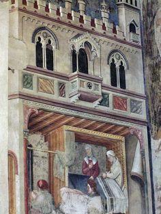 Gentile da Fabriano e bottega - Nascita di Romolo e Remo - Loggia di Romolo e Remo - ciclo di affreschi frammentario - 1411-1412 - Palazzo Trinci a Foligno