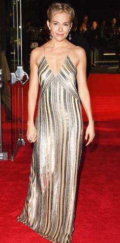 Look of the Day - October 19, 2014 - Sienna Miller in Galvan from #InStyle