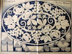 Haft Richelieu No. Hardanger Embroidery, White Embroidery, Vintage Embroidery, Embroidery Applique, Embroidery Patterns, Learn Embroidery, Lace Painting, Lacemaking, Art Nouveau Design