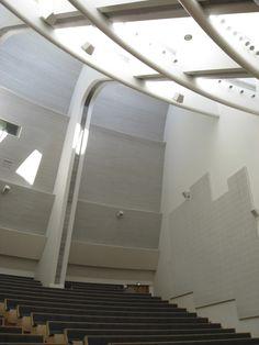 Beautiful quality of daylight, Otaniemi auditorium, Finland by architect Alvar Aalto.