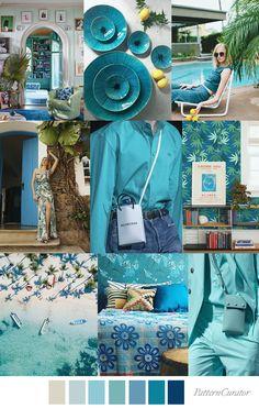 BELIZE BLUES Belize, Color Trends, Life Is Beautiful, Service Design, Color Inspiration, Favorite Color, Print Patterns, Paint Colors, Print Design