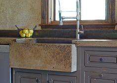 Handmade Concrete Farm Sink, Countertop And Backsplash   Loving Concrete  Lately!