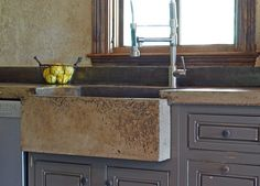 Custom Tuscan Kitchen Farm Sink by Michael Demay Company | CustomMade.com