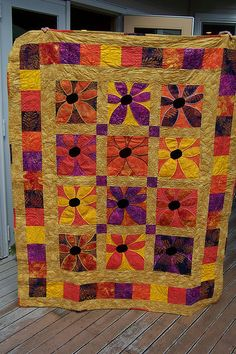 Young at Heart Quilts   Flickr - Photo Sharing! Would like to do this with burgundys, and greens and beiges and browns.