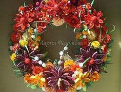 Fall Quilled wreath http://mariyafedotova.blogspot.com/search?updated-min=2011-01-01T00:00:00-08:00=2012-01-01T00:00:00-08:00=27