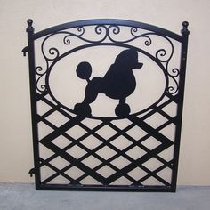Fence Gate Ornamental Iron Poodle Silhouette by ModernIronworks, $299.00