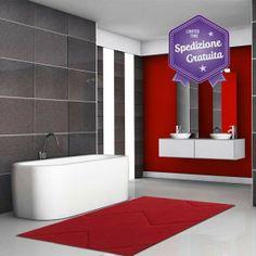 tappeto bagno impronte memory foam lovely home