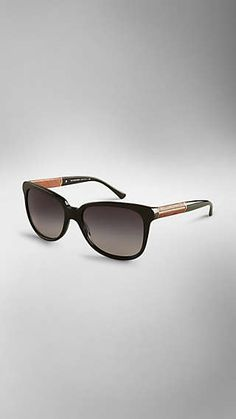 27a324c5212 Wood Detail Square Sunglasses Wood Detail