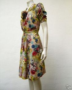hand painted and embroidered dress