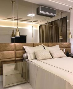 "4,762 Likes, 41 Comments - Decor•house•Home•Casa•Int•arq (@_homeidea) on Instagram: ""O que dizer deste quarto que encontrei no @decoredecor?! Espelho bronze, cabeceira em couro e…"""