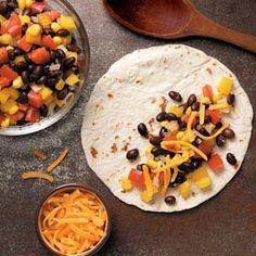 Black Bean Quesadillas Recipe - a yummy vegetarian dish.  http://www.stockpilingmoms.com/2012/04/black-bean-quesadillas-recipe/