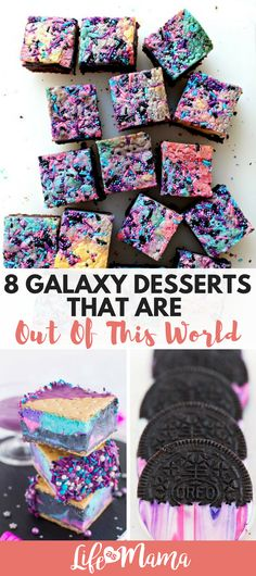 Fun Galaxy Desserts that are out of this world! #galaxydesserts #desserts #fundesserts #galaxycookies #brownies #homemadeicecream #oreos
