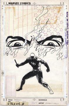 1985 - Anatomy of a Cover - Daredevil #232 By David Mazzucchelli