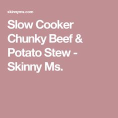 Slow Cooker Balsamic Pot Roast is a healthy roast recipe with beef, balsamic vinegar, beef stock, mustard and soy sauce prepared in a crockpot. Potato Stew Recipe, Beef And Potato Stew, Beef And Potatoes, Stewed Potatoes, Slow Cooker Recipes, Beef Recipes, Cooking Recipes, Slow Cooking, Crockpot Meals