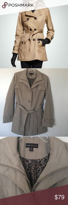 Dana Bachman Trench Jacket Size Medium Excellent condition  No trade  No model  Dana Buchman Jackets & Coats Trench Coats