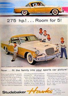 Vintage Advertisement  Studebaker Hawk Ad, 1956