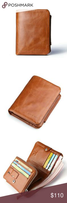 HAUT-TON 100% Authentic Genuine Leather Wallet Top high quality cowhide genuine leather Produced by HAUT-TON company which is very popular in Europe Brand new comes in original case HAUT-TON Bags Wallets