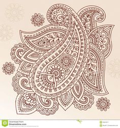 Henna Tattoo Flower Paisley Doodle Vector Design - Download From Over 41 Million High Quality Stock Photos, Images, Vectors. Sign up for FREE today. Image: 23810317