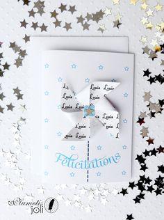 Carte faitmain Petit Moulin personnalisée naissance par PlumetisJoli, €5.00