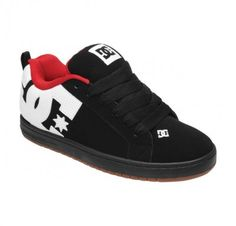 Tênis DC Shoes Men's Court Graffik Shoes Black White Gum 300529 #Tênis #DC Shoes