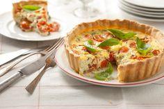 Tarta de ricota, tomates cherry y albahaca - Maru Botana