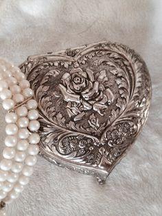 Vintage silver trinket box on Etsy, $18.00