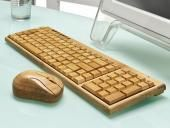 Artis Handmade Wooden Bamboo Wireless Compact Keyboard & Mouse