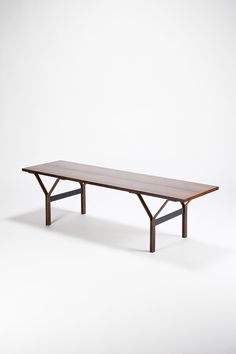Sven Ellekaer; Rosewood Coffee Table, 1960s. 60s Furniture, Table Furniture, Furniture Design, Scandinavian Furniture, Mid Century Decor, Furniture Inspiration, Timeless Design, Dining Bench, Chair