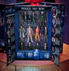 Doctor Who Action Figure Set. Oh, I think I am going to go full on nerd and get these.
