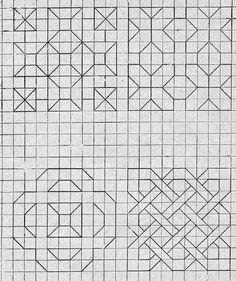 octobre | 2014 | Géométriquement Blackwork Patterns, Zentangle Patterns, Quilt Patterns, Graph Paper Drawings, Graph Paper Art, Geometric Drawing, Geometric Art, Pixel Pattern, Pattern Art