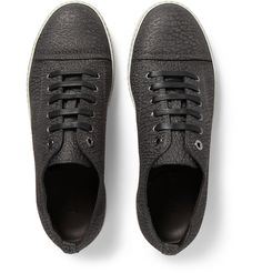 Lanvin - Textured-Leather Sneakers | MR PORTER