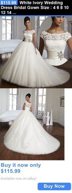 Wedding Dresses: White Ivory Wedding Dress Bridal Gown Size : 4 6 8 10 12 14 16 18 ++ BUY IT NOW ONLY: $115.99