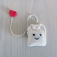 Handmade Crochet Amigurumi Play Food Tea Bag                                    ... - #amigurumi #Bag #Crochet #Food #Handmade #Play #Tea Crochet Kawaii, Marque-pages Au Crochet, Crochet Mignon, Crochet Amigurumi, Crochet Food, Crochet Kitchen, Love Crochet, Crochet Gifts, Amigurumi Patterns