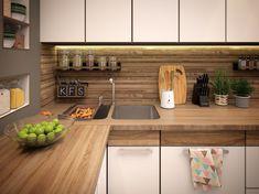 Дизайн-проект современной кухни (4 фото): визуализация