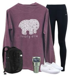 """""""Going on a school field trip, and realizing the bus ride was the best part"""" by evieleet ❤ liked on Polyvore featuring NIKE, Vans, The North Face, women's clothing, women, female, woman, misses and juniors"""
