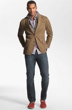 Kroon Sportcoat, Michael Kors Cardigan & Hickey Freeman Sport Shirt | Nordstrom