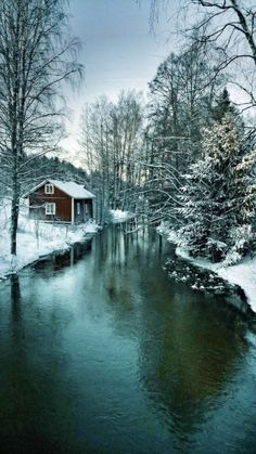 A winter day in Tampere, Finland. Just imagine renting a a cabin and enjoying a view like this! Winter Photography, Nature Photography, Beautiful World, Beautiful Places, Winter Love, Winter Snow, Winter Magic, Winter Scenery, Snow Scenes