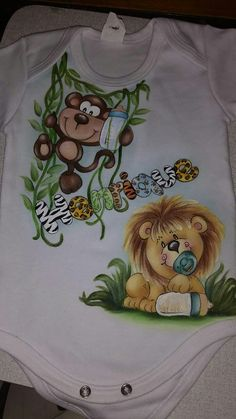 T Shirt Painting, Baby Painting, Painting For Kids, Fabric Painting, Tole Painting, Bebe Daniels, Paint Shirts, Kids Pages, Baby Crib Bedding