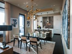 See the HGTV Urban Oasis 2014 kitchen with its modern design, open layout, and floor-to-ceiling cabinets only on HGTV.com.