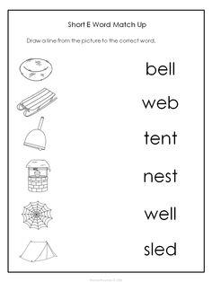 Short E Sound Worksheet   Short vowels, Printable worksheets and ...