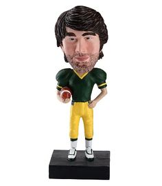 Football is the name of the game for him with this bobblehead.
