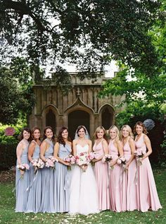 Dusty rose is trending and we love it!  Decorations, flowers, table settings and more that are sweet dusty rose! Spring Bridesmaid Dresses, Wedding Bridesmaids, Wedding Dresses, Bridesmaid Ideas, Wedding Bouquets, Mod Wedding, Trendy Wedding, Wedding Reception, Garden Wedding