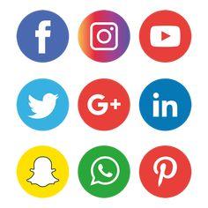 social media icons set logo, Social Media Icons, Social Media, Social Media Logo PNG and Vector Icon Design, Design Set, Web Design, Graphic Design, Social Png, Social Icons, Social Media Logos, Social Media Buttons, Social Media Banner
