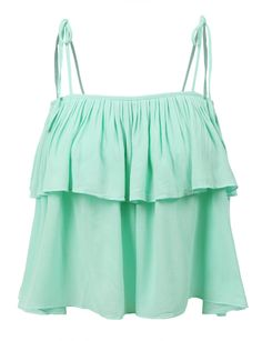 LE3NO Womens Flowy Cropped Tie Straps Tube Top