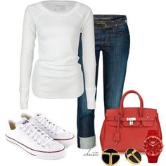 Running Errands Outfit :) so me, just a plain white tee and tennies shoes