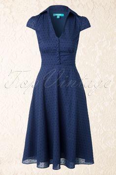 Fever Navy Blue Provence Shirt Dress 104 31 13936 03272015 04W