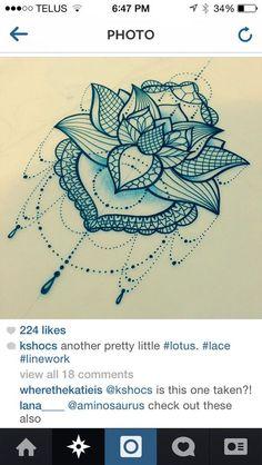 lace lotus tattoo - Google Search