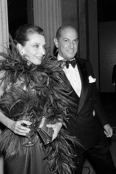 Oscar de la Renta and Audrey Hepburn, 1989