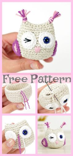 Owl is one of the animals which are commonly used in craft projects. Here are a few Crocheted Owls ideas which create beautiful and cute owls. Diy Crochet Owl, Crochet Vintage, Owl Crochet Patterns, Crochet Bear, Crochet Gifts, Cute Crochet, Amigurumi Patterns, Knitting Patterns, Crochet Animals